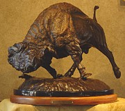 Bison Sculpture Originals - Capture the High Ground by Peggy Detmers