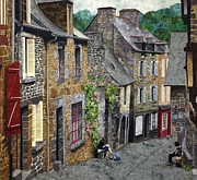 France Tapestries - Textiles Prints - Capturing Brittany Print by Lenore Crawford