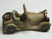 Cars Ceramics Originals - Car 01 by Val Camilleri