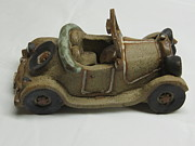 Cars Ceramics Originals - Car 03 by Val Camilleri