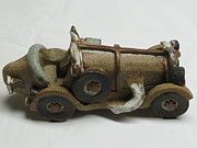 Cars Ceramics Originals - Car 04 by Val Camilleri