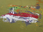 Speedy Originals - Car Abstract Vroom Vroom by David Francis Willis