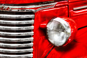 Headlight Prints - Car - Chevrolet Print by Mike Savad