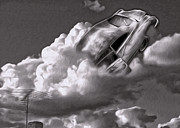 Car Crash In The Clouds - Number 2 Print by Gregory Dyer