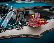 Rock And Roll Prints - Car Hop Print by Perry Webster