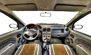 Traffic Control Photo Originals - Car Interior by Ioan Panaite