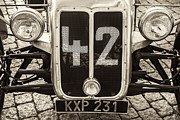Racing Number Framed Prints - Car Number 42 BW Framed Print by Martin Bergsma