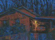 Transportation Pastels Originals - Car Port by Donald Maier