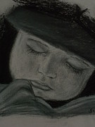 Angelic Drawings - Car seat and cap nap by Jennifer J Folsom
