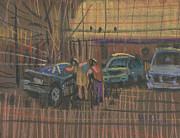 Second Hand Prints - Car Shopping Print by Donald Maier