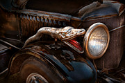 Headlight Photo Metal Prints - Car - Steamer - Snake Charmer  Metal Print by Mike Savad