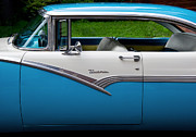 Blue Classic Car Prints - Car - Victoria 56 Print by Mike Savad
