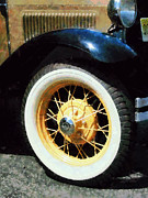 Convertible Framed Prints - Car Wheel Closeup Framed Print by Susan Savad
