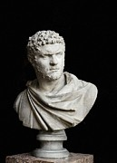 Statue Portrait Metal Prints - Caracalla. 212 - 217. Bust. Sculpture Metal Print by Everett