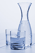 Carafe Prints - Carafe of Water and Two Glasses Print by Colin and Linda McKie