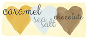 Brown Mixed Media Posters - Caramel Sea Salt and Chocolate Poster by Linda Woods