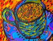 Relax Paintings - Caramelo Cup by Mosav Art