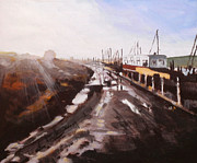 Paul Mitchell Art - Caravan At Oare Creek by Paul Mitchell