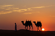 United Arab Emirates Prints - Caravan Print by Christian Heeb