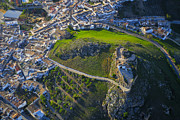 Aerial Posters - Carcabuey Castle from the air Poster by Guido Montanes Castillo