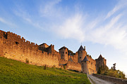 Languedoc Photo Prints - Carcassonne Languedoc Roussillon France Print by Colin and Linda McKie