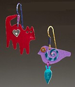 Colorful Jewelry - Carch Me Earrings by Barbara Lager