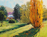 Beech Paintings - Carcor Autumn by Graham Gercken