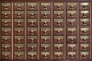 Drawers Prints - Card Catalog  Print by Mountain Dreams