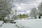 Winter Framed Prints - Card - St Marys Churchyard - Tutbury Framed Print by Rod Johnson