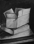 Studio Drawings - Cardboard Box by Francesca Siano