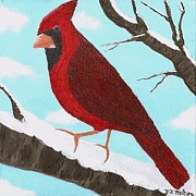 Animal Paintings - Cardinal by Vicki Maheu