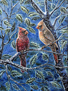 Gail Butler - Cardinals And Holly