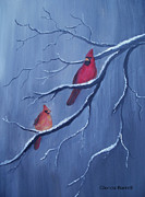 Cardinals Print by Glenda Barrett