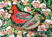 Diane Pape - Cardinals in an Apple...