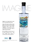 Dolphin Glass Art - Carey Chen Big Chill vodka by Jimmy Johnson by Carey Chen