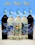 Ocean Turtle Glass Art - Carey Chen Fine Art Wines by Carey Chen
