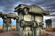 Carhenge Automobile Art 2 Print by Bob Christopher