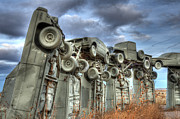 Nebraska. Posters - Carhenge Automobile Art Poster by Bob Christopher