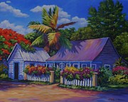 Clarke Paintings - Caribbean Cottage by John Clark