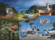 Oldtimer Originals - Caribbean Dream - Collage by Christiane Schulze