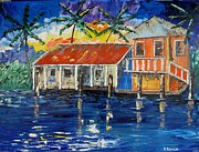 Edge Paintings - Caribbean House by Kevin  Brown
