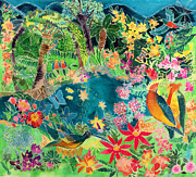 Flying Birds Prints - Caribbean Jungle Print by Hilary Simon