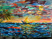 Caribbean Sea Paintings - Caribbean landscape by Egidio Graziani