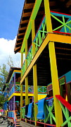 Front Porch Prints - Caribbean Porches Print by Randall Weidner