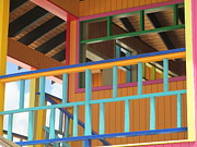 Half Moon Cay Prints - Caribbean Railings Print by Randall Weidner