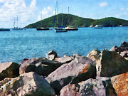 Caribbean Art - Caribbean - Rocky Shore St. Thomas by Susan Savad