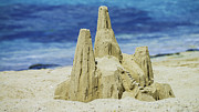 Sand Castles Metal Prints - Caribbean Sand Castle  Metal Print by Betty LaRue