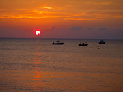 Freeport Prints - Caribbean Sunset Print by Carey Chen
