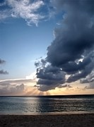 Caribbean Sunset Print by Peggy J Hughes