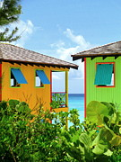 Cabin Window Framed Prints - Caribbean Village Framed Print by Randall Weidner
